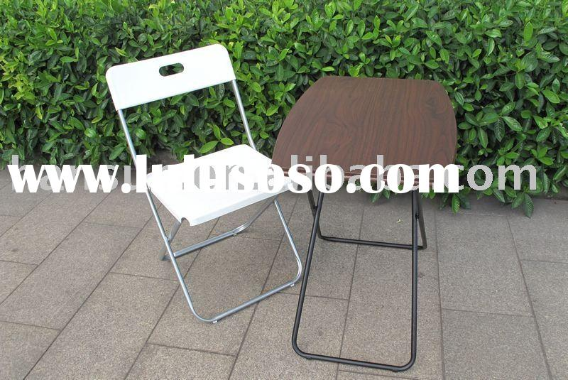ABS plastic folding tables and chairs bistro set