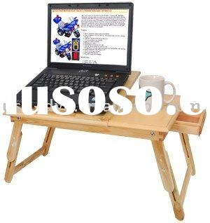 Adjustable folding wood Notebook Laptop Bed / Table