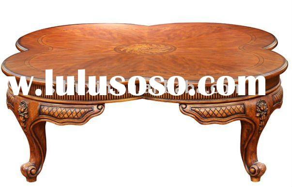 Antique Coffee Table #08 solid oak wood