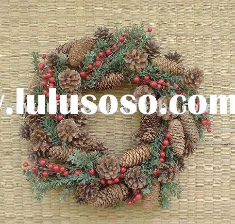 Artificial Decorative Wreaths Fruit - Pinecone Wreaths