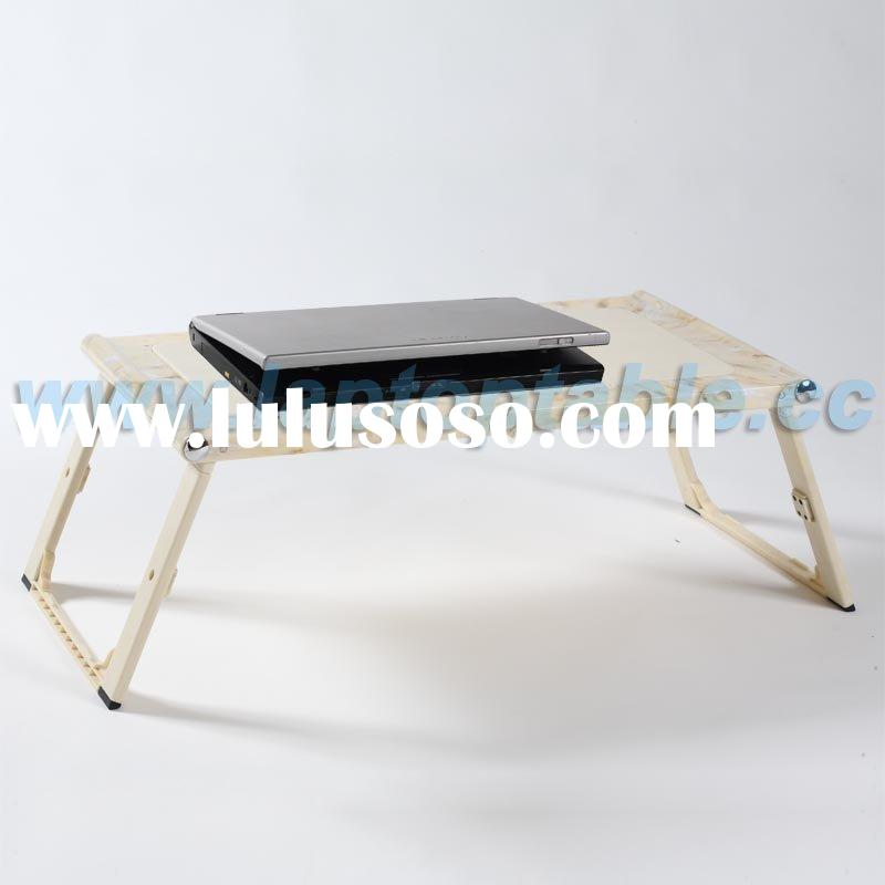 Bed laptop table with USB fan