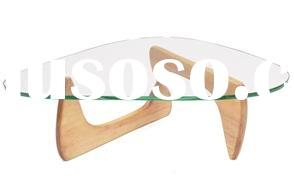 Coffee Table by Isamu Noguchi, glass table, hardwood base table