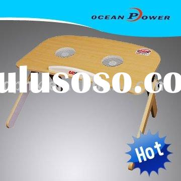 Foldable & portable laptop table with cooling fan