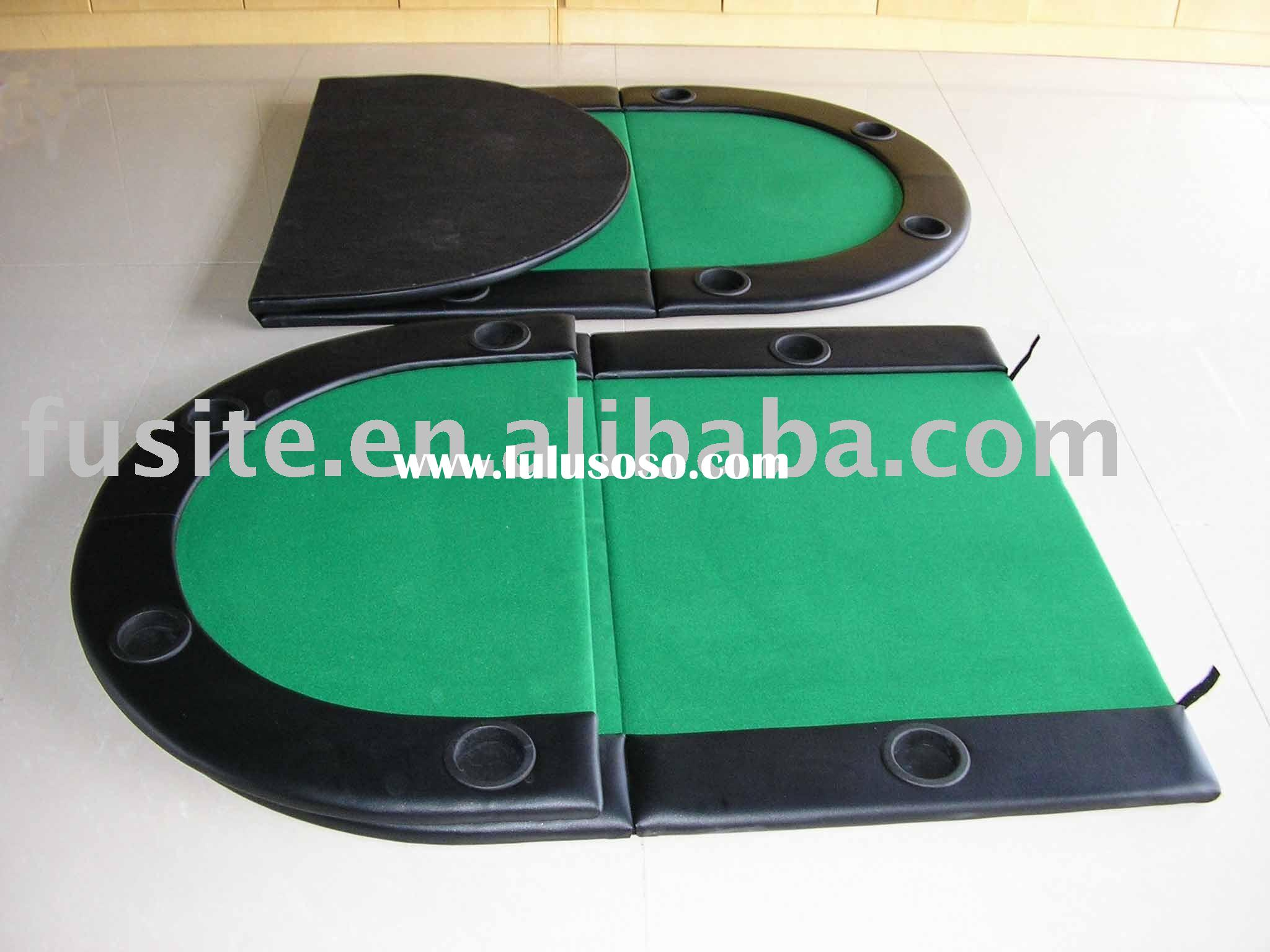 Folding Oval Poker Table Top