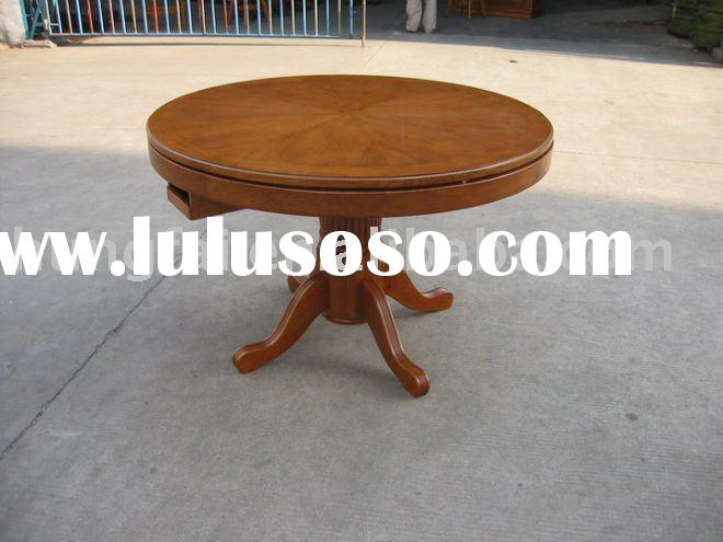 GT-01(OAK)Solid wood multi game dining table designs