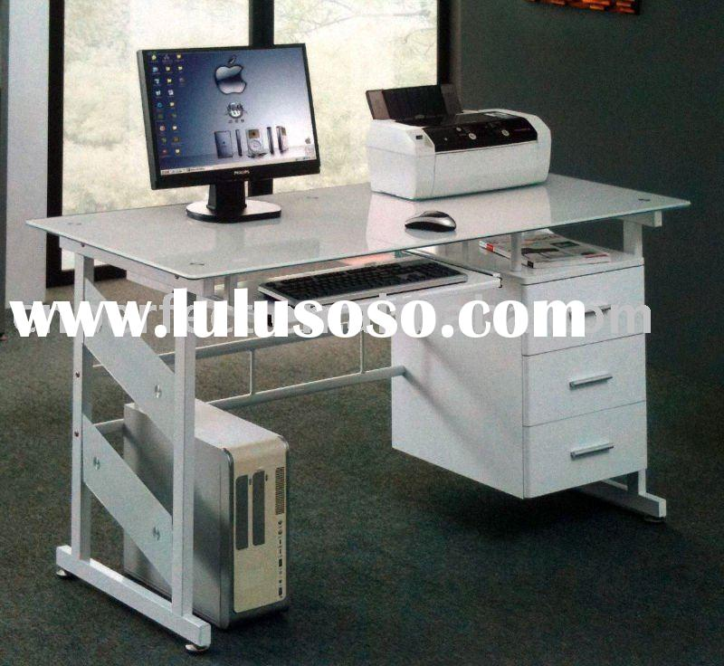 Glass Design Office Computer Table