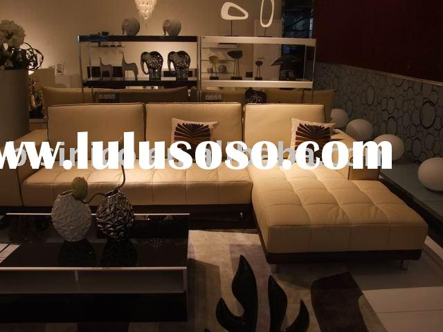 Living room furniture,modern leather sofa, coffee table, home furniture