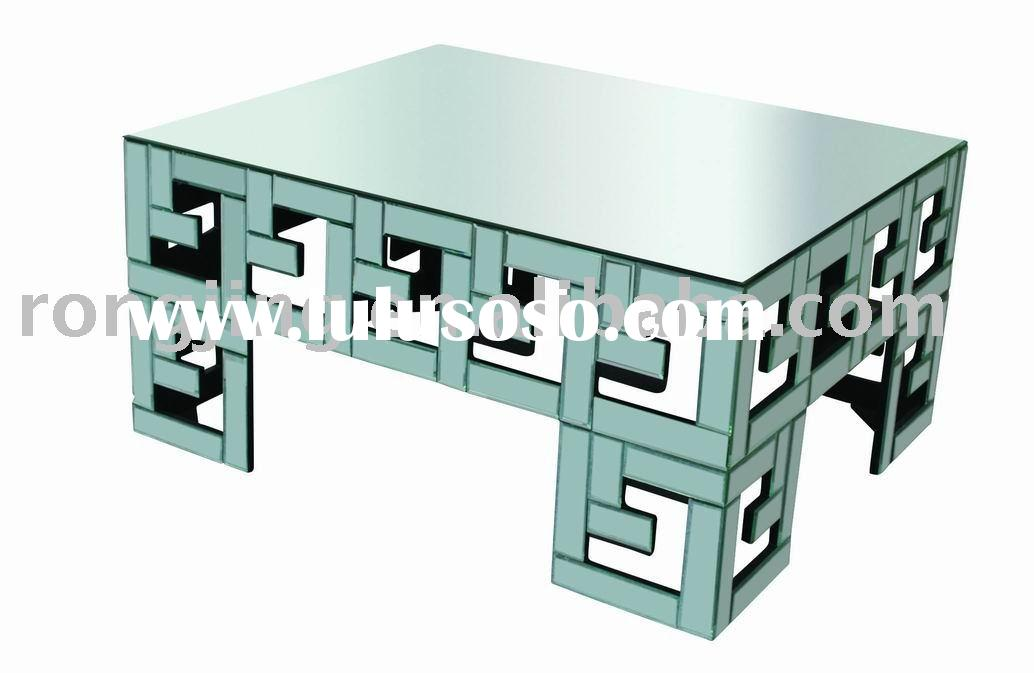 Mirror coffee table,glass table,coffee table with square