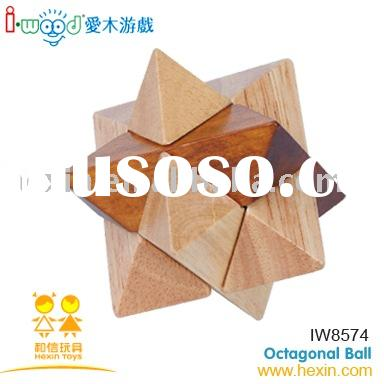 Octagon Magic Sphere (wooden games, game set, wood toy )