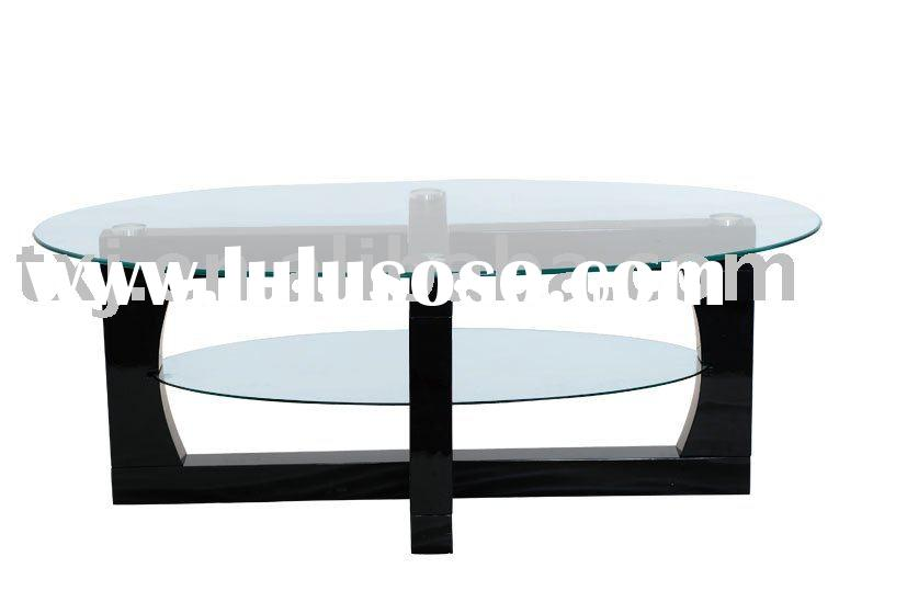 Oval glass coffee table (TT-142)