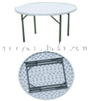 Plastic round table.plastic folding table,folding round table