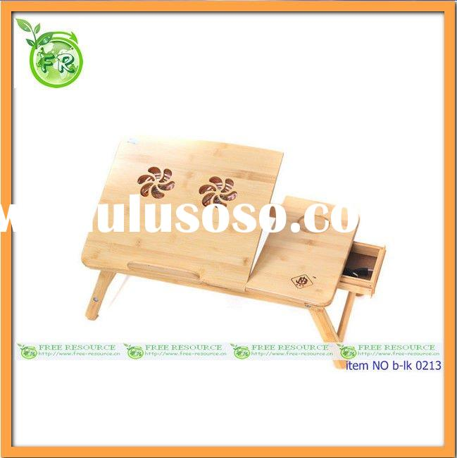 Portable bamboo laptop table for bed