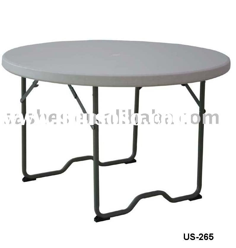 US-265  Round plastic folding table