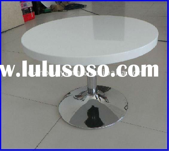 White Round MDF Coffee Table