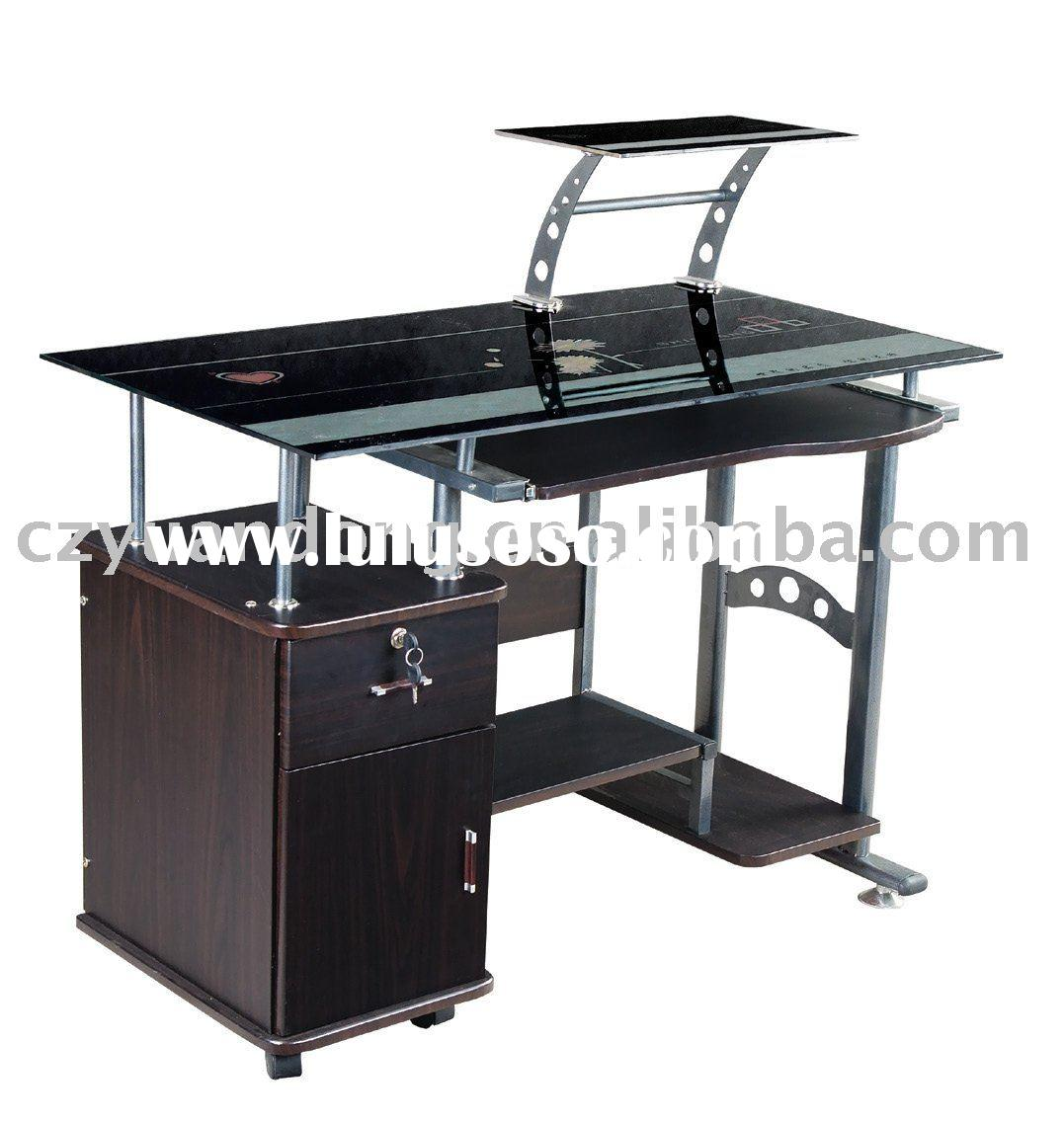 YD-030 Modern Craft glass computer table