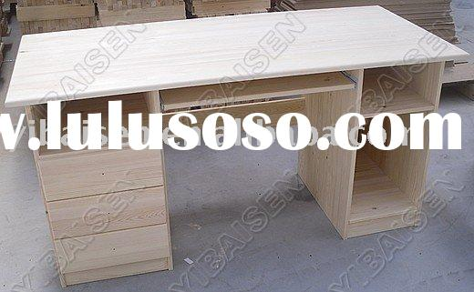 big pine computer desk/ table ,wooden computer table