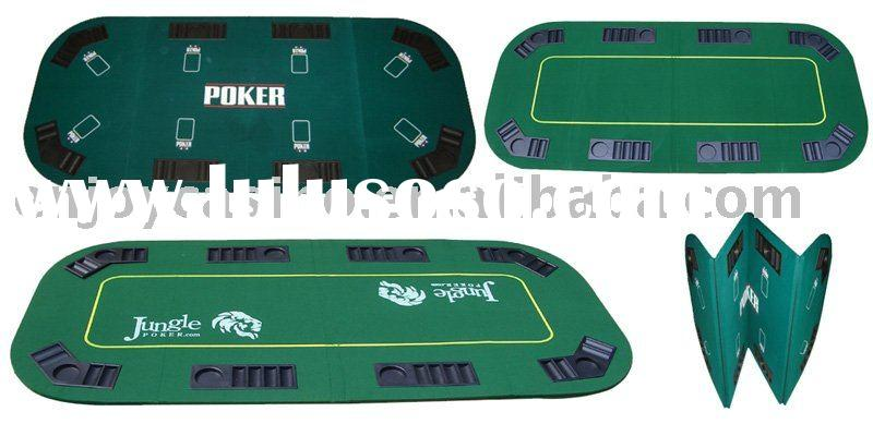 Casino Oval Foldable Poker Table Top With Chip Trays