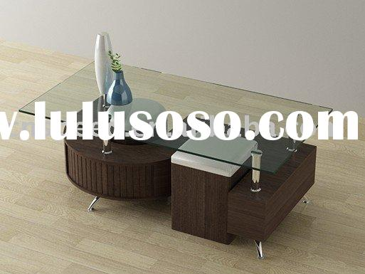 contemporary MDF glass coffee table