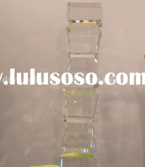 contemporary glass pedestal table base