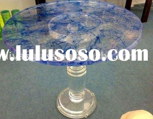 crystal glass pedestal table base