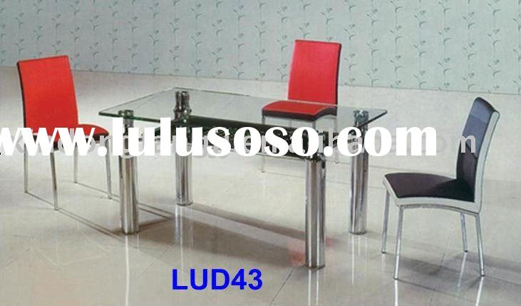 dining table and chair/ distressed dining table/ plastic dining table