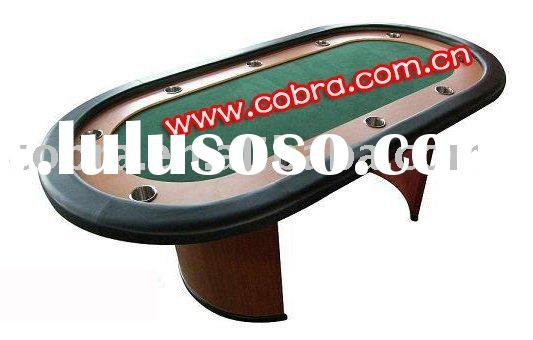 folding Poker chip table with cup holder