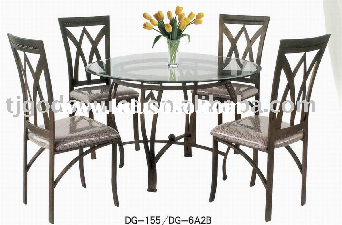 glass dining table and chairs GS-10005