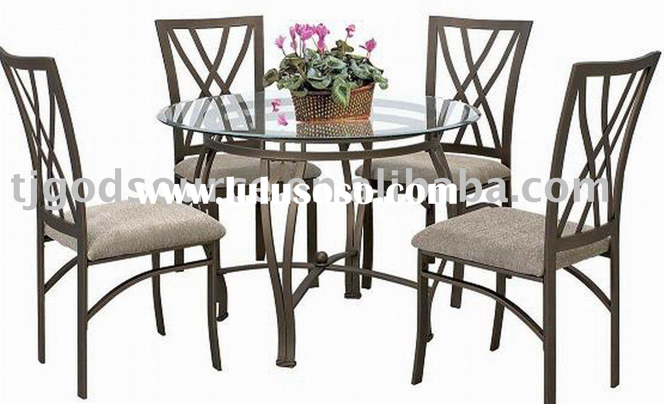 glass dining table and chairs   GS-10075