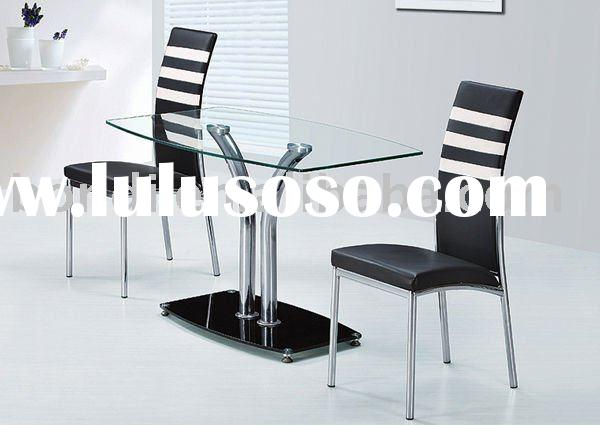modern durable oval glass  dining table