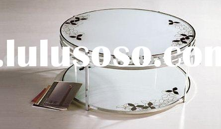 modern round glass coffee table G8063E1.0