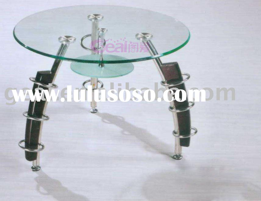 modern tempered glass coffee table set M002