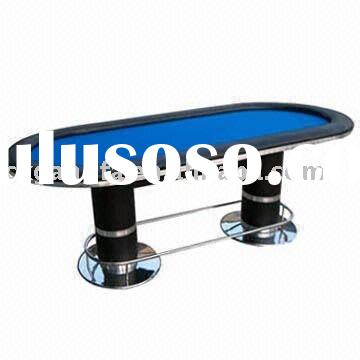 poker table with stainless steel leg