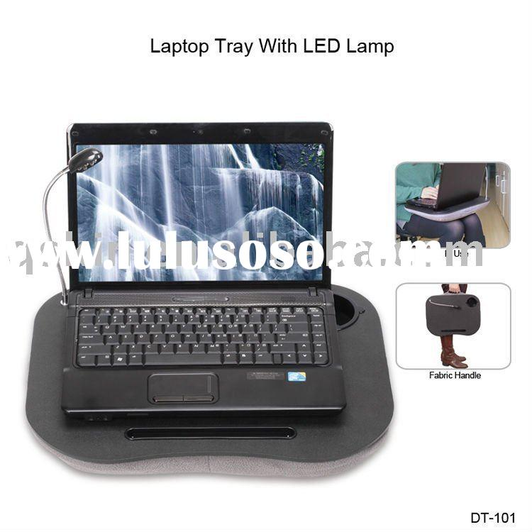 portable laptop/notebook computer/macbook tray/desk with cushion