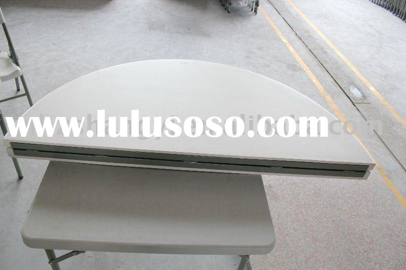portable round folding tables in plastic idea for indoor and outfoor