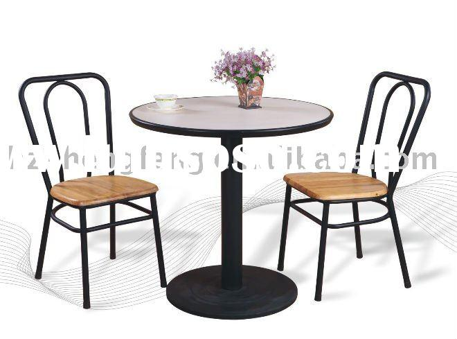 restaurant dining table&chair/wood steel dining tables/fast food dining set/cafe furniture