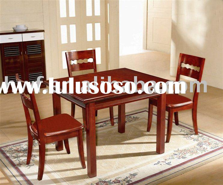 wood dining room table and chair