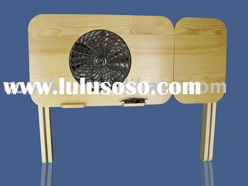 wooden folding laptop table with mouse pad