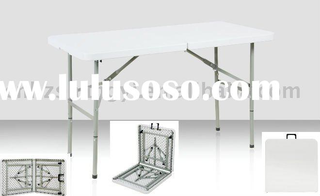 4 foot adjustable blow-molded plastic folding table