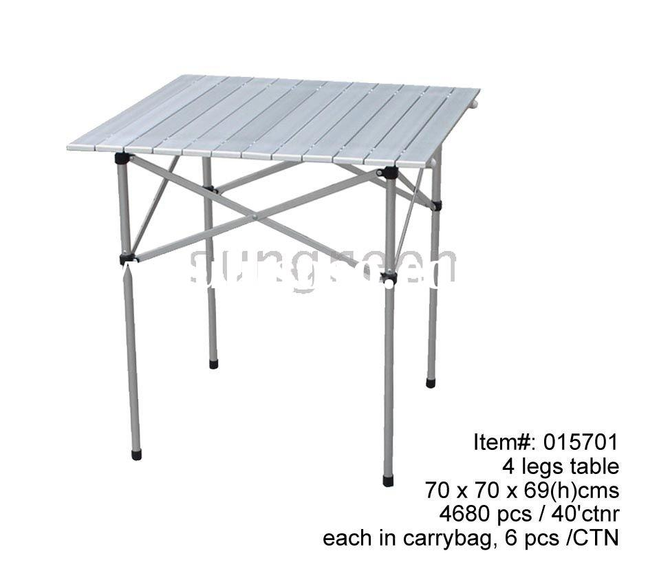 4 legs aluminum portable folding table
