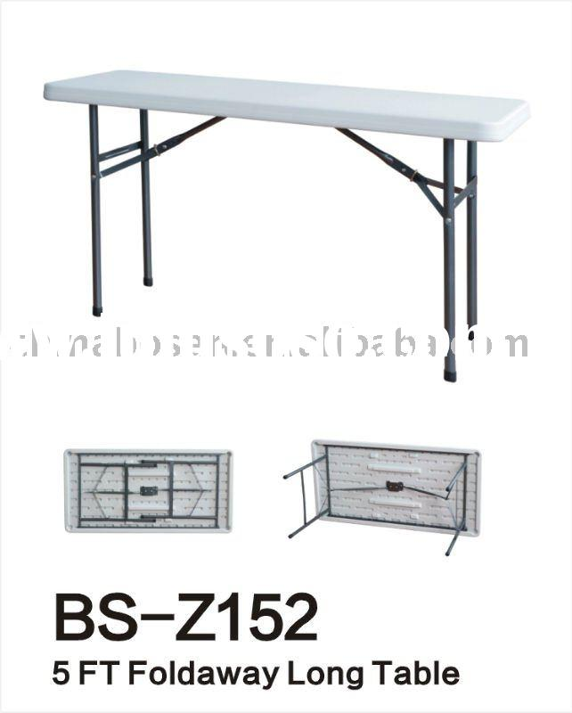 5 Foot Blow Molded Plastic Folding Table
