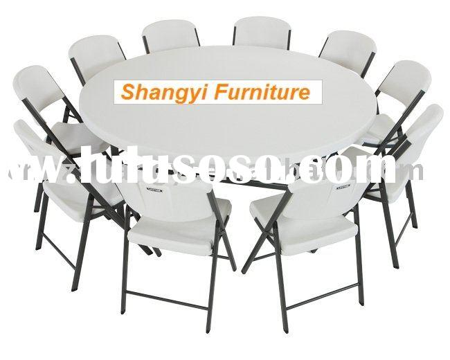 5 foots Blow-molded Plastic banquet round folding table
