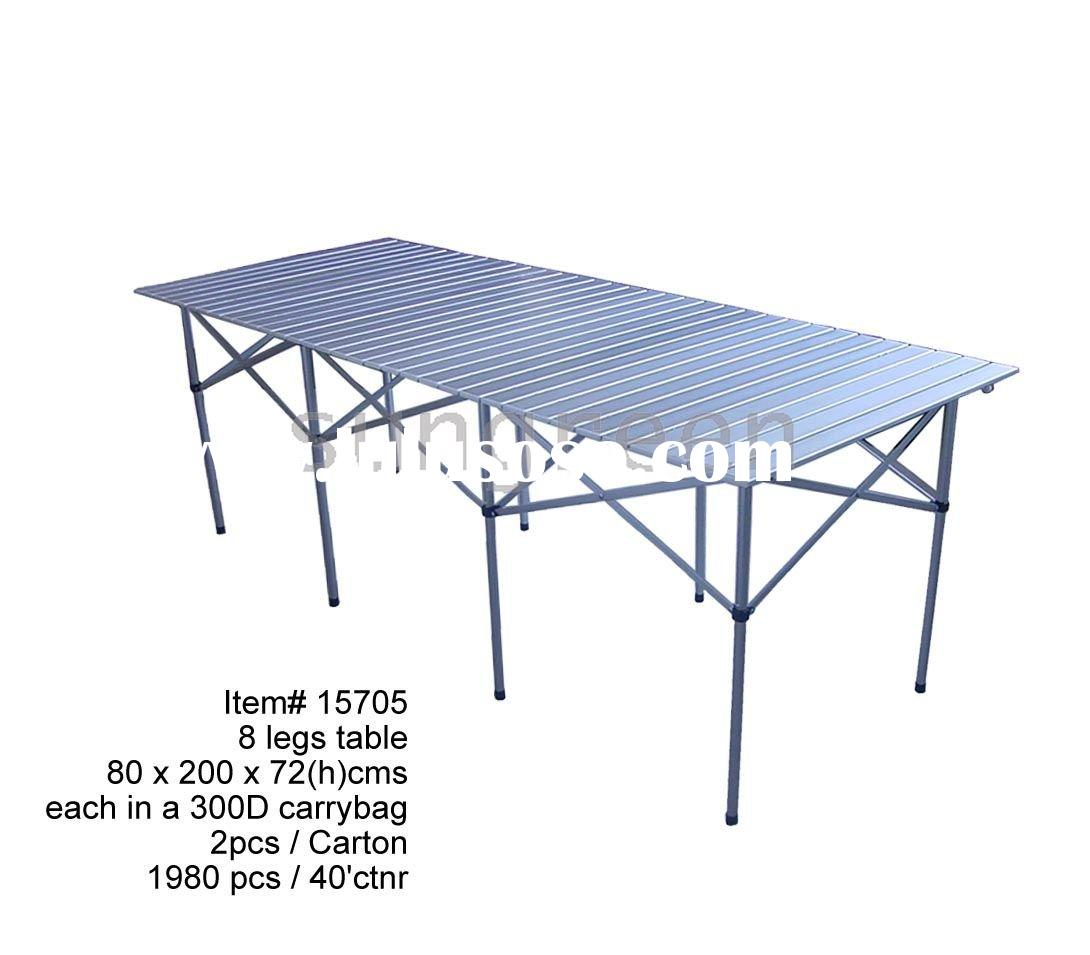 8 legs aluminum portable folding table