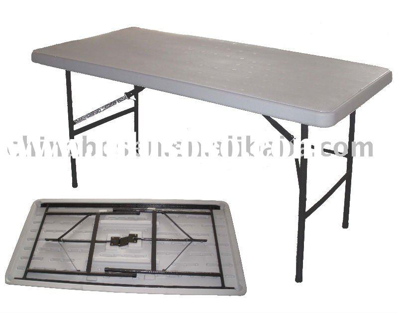 Blow Molded 5 ft Plastic folding table