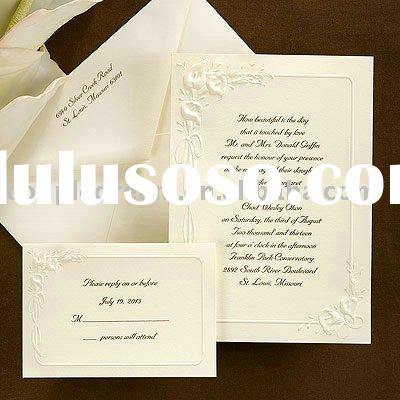 cheap wedding invitations with response cards