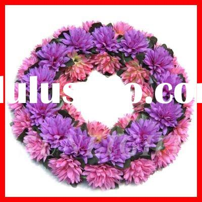 Cheap artificial flower wreath,funeral flower decoration wreath