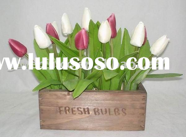 Decorative Silk flower plants tulip arrangement