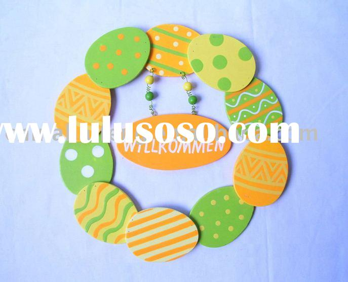 Easter Decoration, Easter Egg, Easter Gift, Wooden Wreath