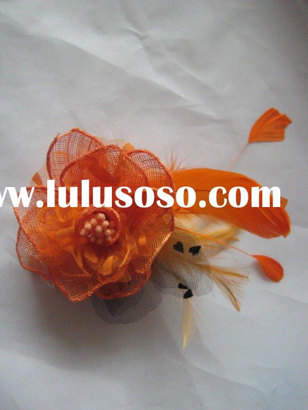 Fashion Flower Clips/feather flower hair clip/flower clips/hair accessory /artificial flower clips