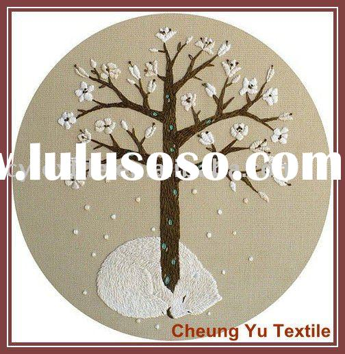 Flower tree embroidery designs