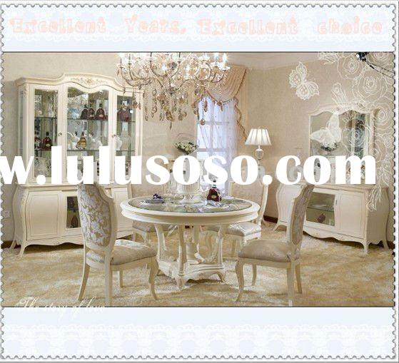 Dining sets with rolling chairs chair pads cushions for French dining room furniture